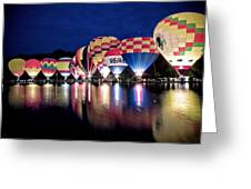 Glowing Balloons Greeting Card