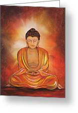 Glowing Buddha  Greeting Card