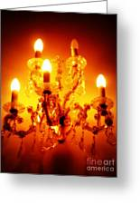 Glowing Chandelier--companion Piece Greeting Card