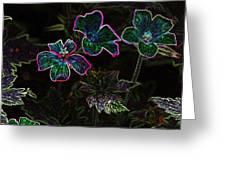 Glowing Flowers Greeting Card