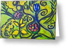 Glowing Garden Greeting Card