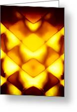 Glowing Honeycomb Greeting Card