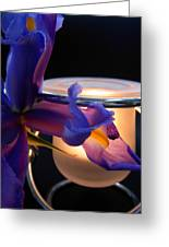 Glowing Iris Greeting Card