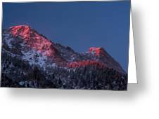 Glowing Little Cottonwood Canyon Greeting Card