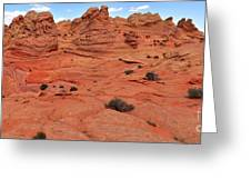 Glowing Sand In The Buttes Greeting Card