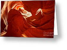 Glowing Sandstone Ledges Greeting Card