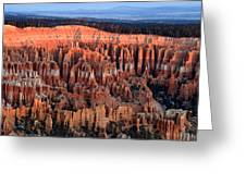 Glowing Sunrise In Bryce Canyon Greeting Card