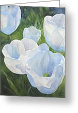 Glowing Tulips Greeting Card by Bobbi Price