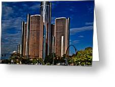 Gm And Marriot Monster In Detroit Greeting Card
