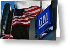 Gm Flags Greeting Card