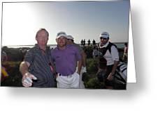 Gmac  Mark Robinson And Ken Greeting Card