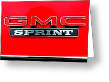 Gmc Sprint 001 Greeting Card