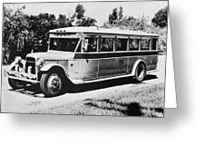 Gm's First Bus Line Greeting Card