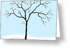 Gnarled In Winter Greeting Card