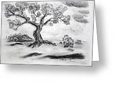 Gnarly Oak Greeting Card