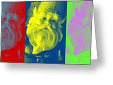 Gnomes In Crazy Color Greeting Card