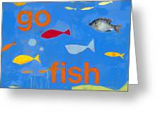 Go Fish Greeting Card by Laurie Breen