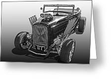 Go Hot Rod In Black And White Greeting Card
