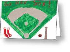 Go Red Sox Greeting Card by Rosemary Mazzulla