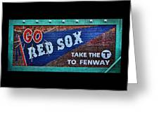 Go Red Sox Greeting Card