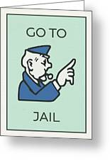 Go to jail vintage monopoly board game theme card mixed media by go to jail vintage monopoly board game theme card greeting card bookmarktalkfo Choice Image