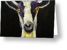 Goat Gloat Greeting Card