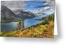 Goat Haunt Panorama Greeting Card