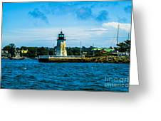 Goat Island Light House Greeting Card