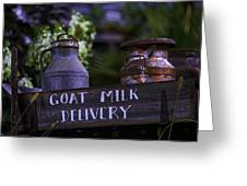 Goat Milk Delivery Greeting Card
