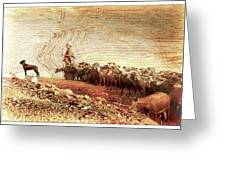 Goatherd Greeting Card