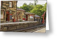 Goathland Railway Station, Train Station From Harry Potter Greeting Card