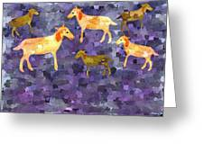 Goats In The Field Greeting Card