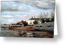 Goats Walk Topsham Devon Greeting Card
