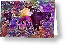 Goats Wildpark Poing Young Animals  Greeting Card