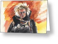 Goblin King At His Best Greeting Card