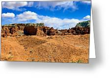Goblin Valley Pano 3 Greeting Card by Tomasz Dziubinski