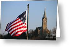 God And Country 2 Greeting Card