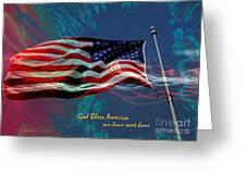 God Bless 2 Greeting Card