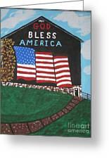 God Bless America Barn Greeting Card