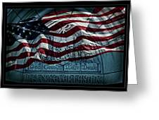 God Country Notre Dame American Flag Greeting Card