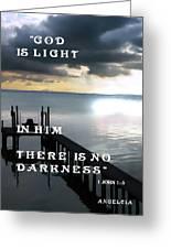 God Is Light Greeting Card