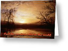 God Is The Artist Greeting Card
