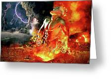 God Of Fire Greeting Card