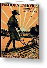 God Speed The Plough And The Woman Who Drives It Greeting Card