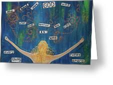 God Greeting Card