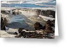 Godafoss Waterfall Greeting Card