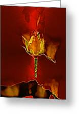 Goddes Of Fire Greeting Card