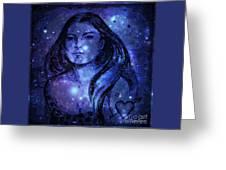 Goddess In Blue Greeting Card