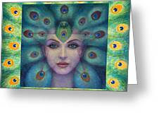 Goddess Isis Visions Greeting Card by Sue Halstenberg