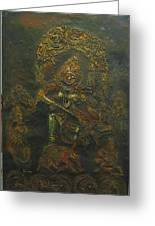 Goddess Kali Killing Demon Greeting Card